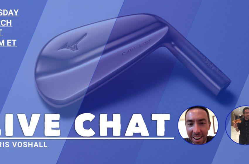 Live Chat Today: Chris Voshall of Mizuno Golf